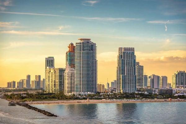Miami Beach of Downtown Miami Vastgoed
