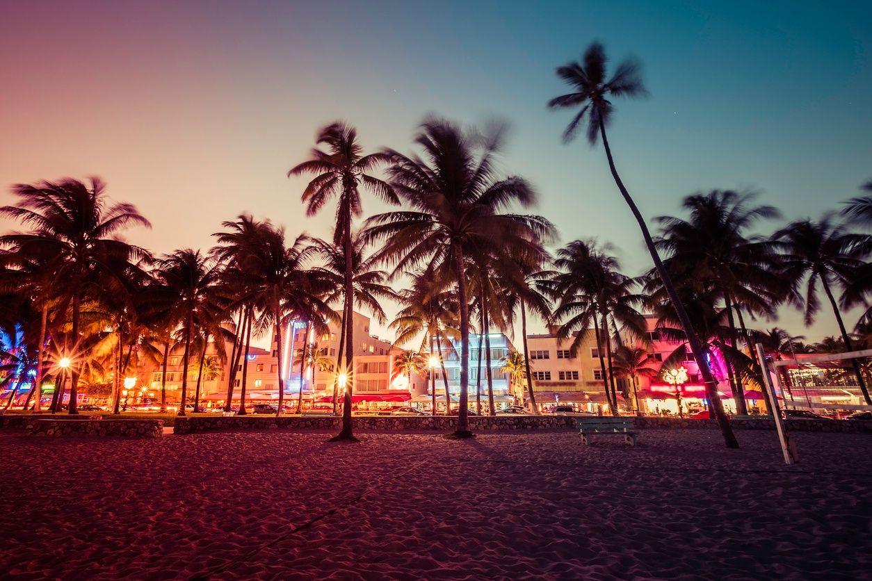 een beeld van het nachtleven in South Beach, Miami...